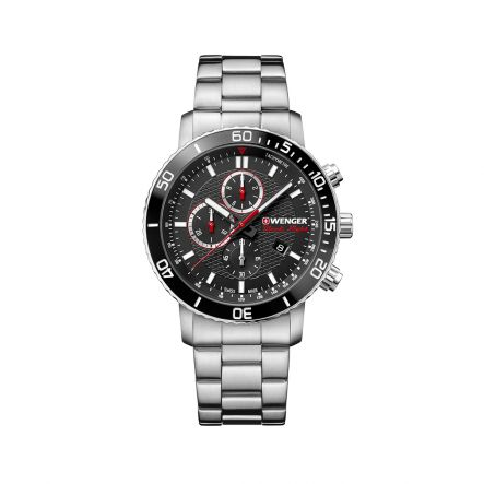 ZEGAREK WENGER Roadster Black Night Chronograph