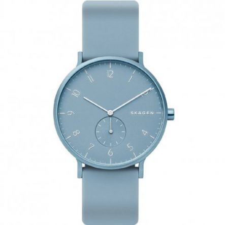 ZEGAREK SKAGEN Aaren Kulor Light Blue Silicone