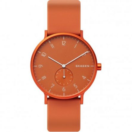 ZEGAREK SKAGEN Aaren Kulor Orange Silicone